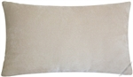 velvet beige solid decorative throw pillow cover