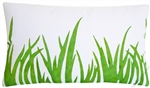 green grasses decorative throw pillow cover