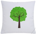 green primavera tree *hand painted* decorative throw pillow cover