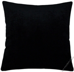 velvet black solid decorative throw pillow cover