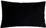 black velvet solid decorative throw pillow cover