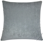 gray velvet solid decorative throw pillow cover