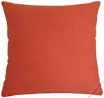 orange metro linen decorative throw pillow cover