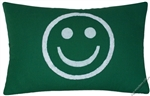 green white smiley decorative throw pillow cover