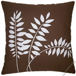 chocolate brown wheat decorative throw pillow cover