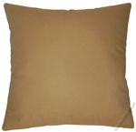 caramel brown solid cotton decorative throw pillow cover