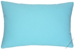 sky blue solid cotton decorative throw pillow cover