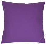purple violet solid cotton decorative throw pillow cover