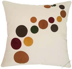 natural earth bubbles decorative throw pillow cover