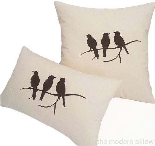40x40 Natural Beige Birds On A Limb Decorative Throw Pillow Cover Inspiration Decorative Throw Pillows With Birds
