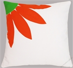 orange daisy decorative throw pillow cover