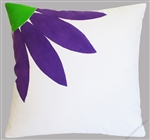 purple daisy decorative throw pillow cover