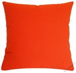 orange solid cotton decorative throw pillow cover