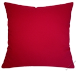red solid decorative throw pillow cover