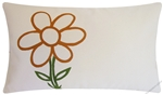 Burnt Sienna Animated Flower Throw Pillow Cover