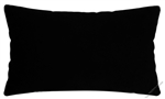 black solid cotton decorative throw pillow cover