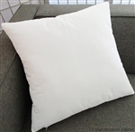 white velvet decorative throw pillow cover