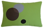 Avocado Green Circles Decorative Throw Pillow Cover