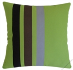 Avocado Green Stripe Decorative Throw Pillow Cover