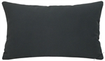 charcoal gray solid cotton decorative throw pillow cover