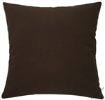 chocolate brown solid decorative throw pillow cover