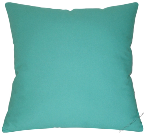 20x20 Aqua Blue Solid Decorative Throw Pillow Cover Cushion Cover