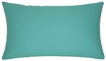 aqua blue green solid decorative throw pillow cover