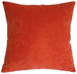 orange velvet decorative throw pillow cover