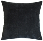 graphite gray velvet decorative throw pillow cover