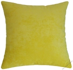 yellow velvet decorative throw pillow cover
