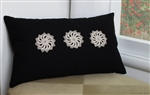 black pinwheel trio decorative throw pillow cover