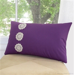 purple violet doily trio decorative throw pillow cover
