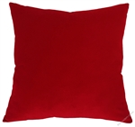 true red velveteen decorative throw pillow cover