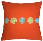 orange doily decorative throw pillow cover
