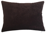 chocolate brown velvet decorative throw pillow cover