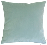 pool green velvet suede decorative throw pillow cover