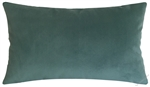 caribbean green velvet suede decorative throw pillow cover