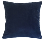 navy blue velvet suede decorative throw pillow cover