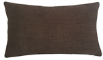 brown cosmo linen decorative throw pillow cover