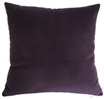 purple velvet suede decorative throw pillow cover