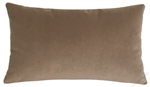 tan velvet suede decorative throw pillow cover