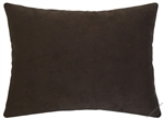 chocolate brown velvet suede decorative throw pillow cover