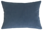 ocean blue velvet suede decorative throw pillow cover