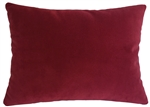 red velvet suede decorative throw pillow cover