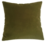 wasabi green velvet suede decorative throw pillow cover