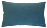 peacock blue velvet suede decorative throw pillow cover