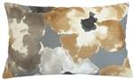 amber watercolor floral decorative throw pillow cover