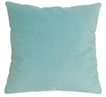 aqua velvet suede decorative throw pillow