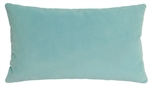 aqua velvet suede decorative throw pillow cover