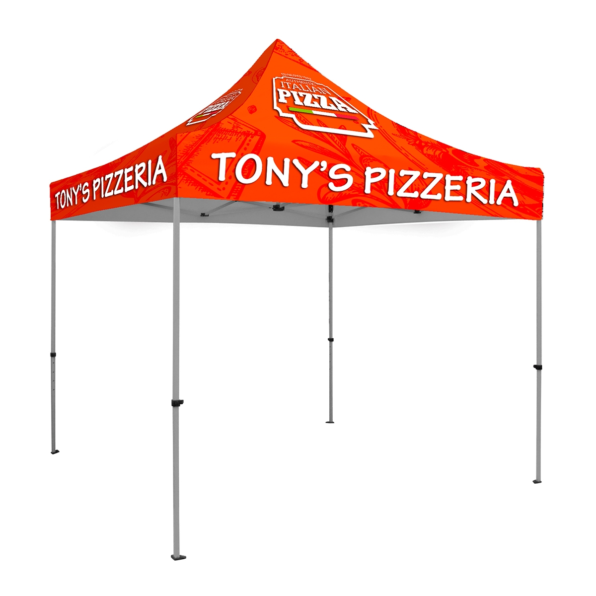 10 x 10 ft. Tent Full-Color Canopy with 40mm Steel Frame